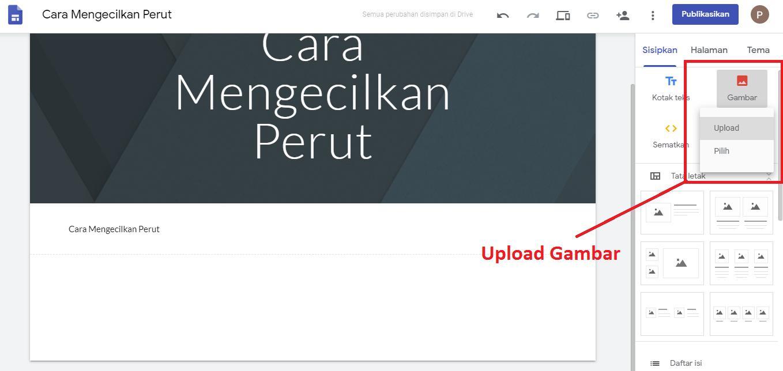 Upload Gambar Google Site