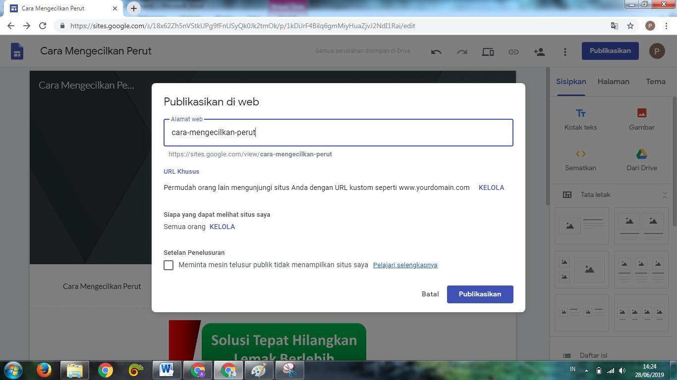 Publish Google Site