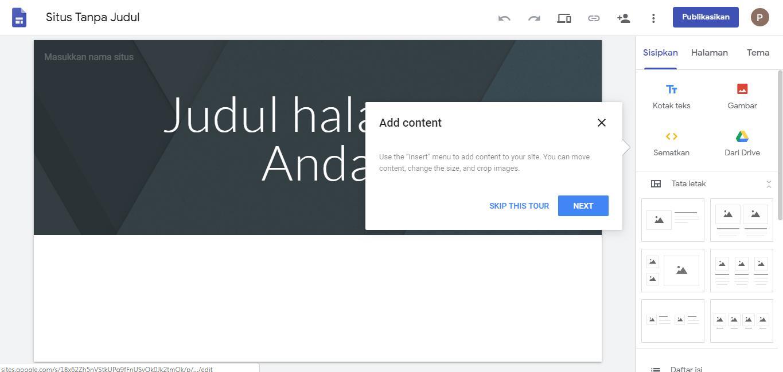 Cara Membuat Website Di Google Sites Lengkap Gratis Dengan Gambar