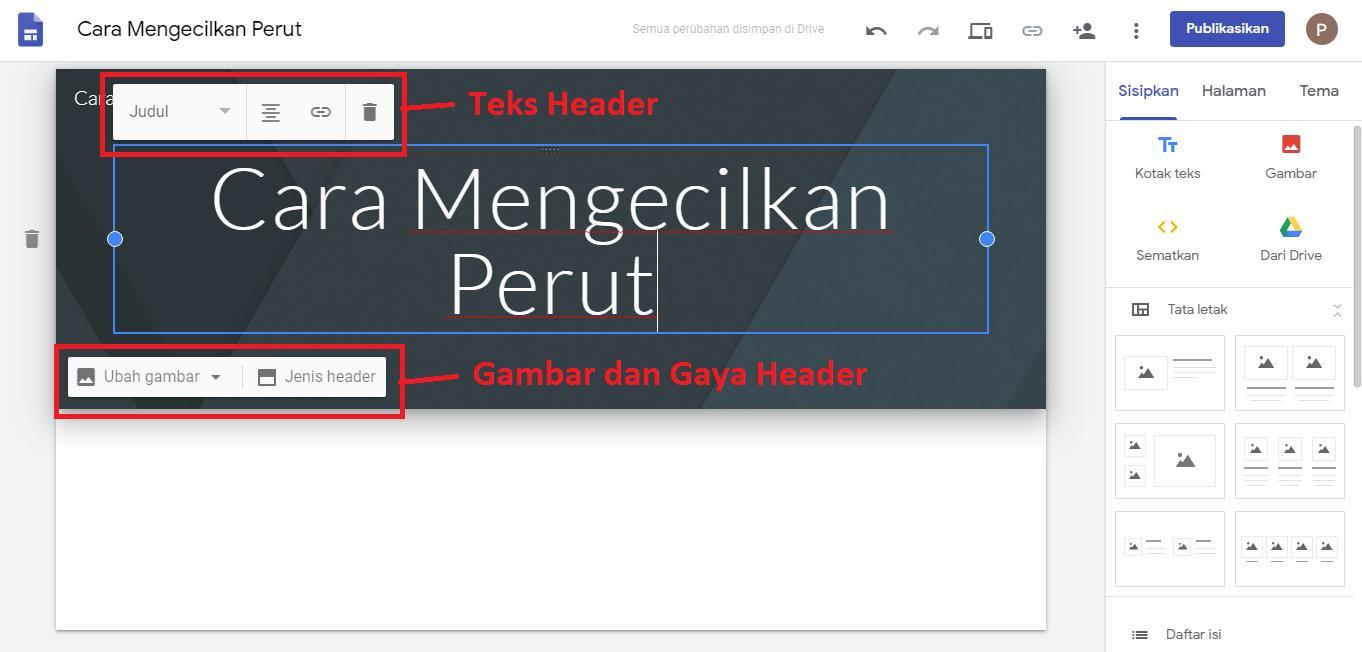 Header Google Site