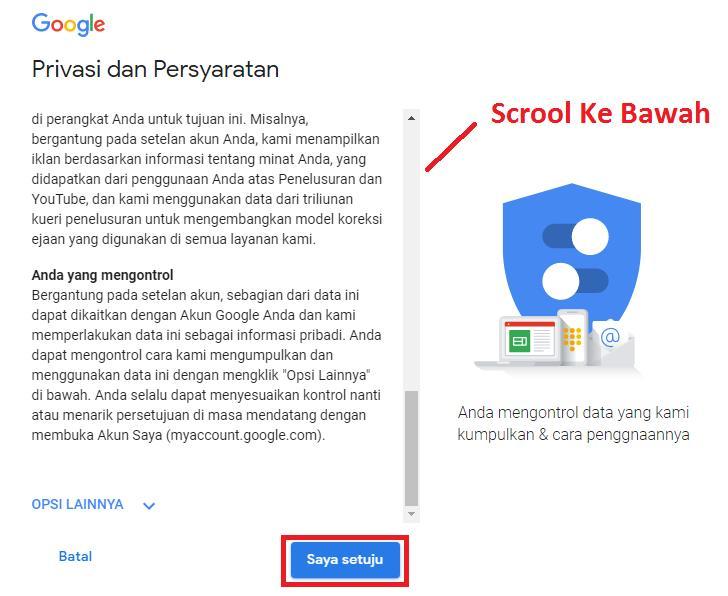 Syarat Gmail