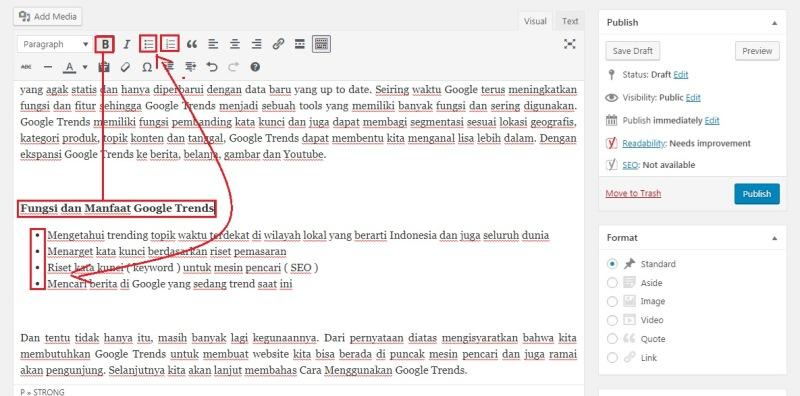 Merapikan Artikel WordPress