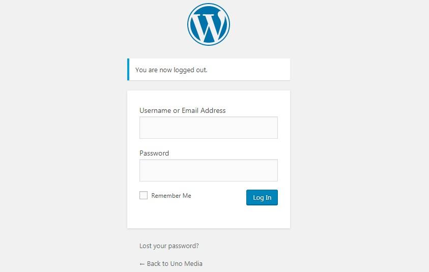 Form Login Menu WordPress