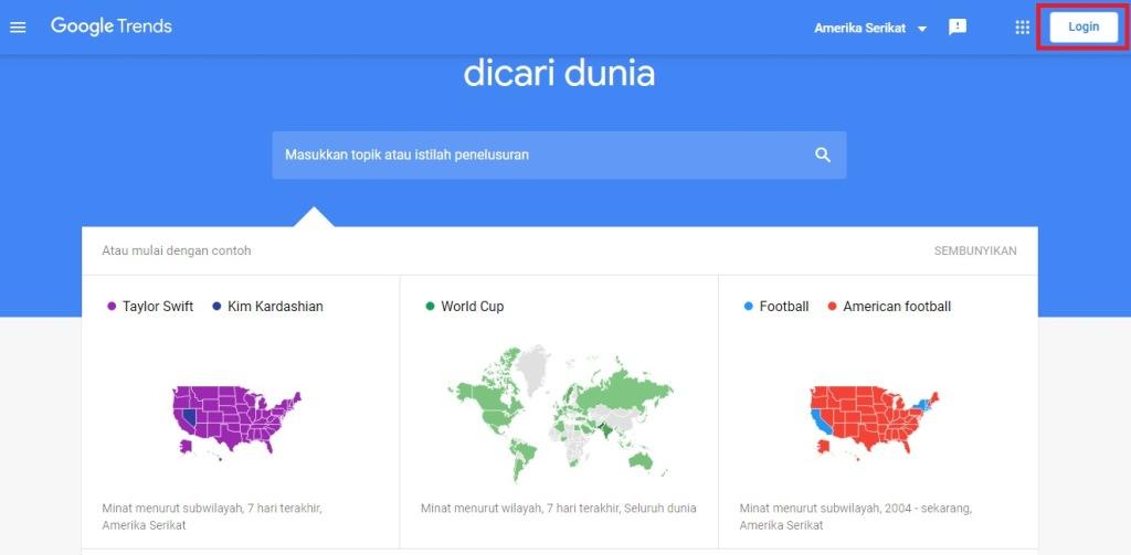 Login Google Trends
