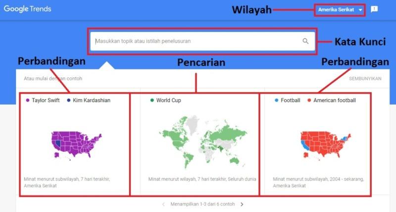 Tampilan Awal Google Trends