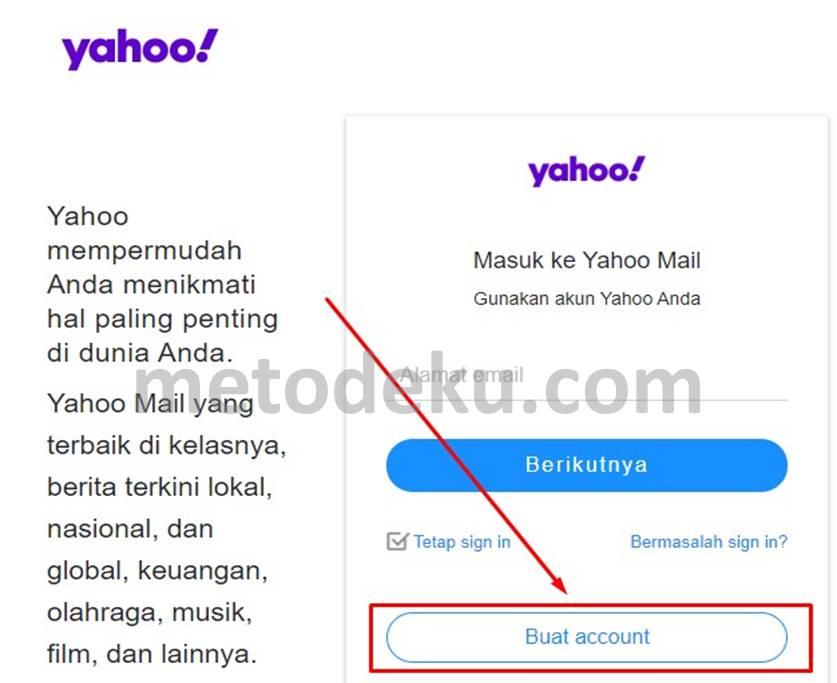 Membuat Yahoo Mail