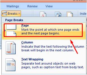 Penggunaan Fitur Breaks di Microsoft Word