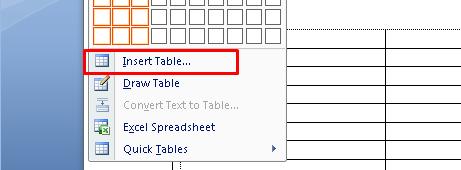 membuat tabel di ms word