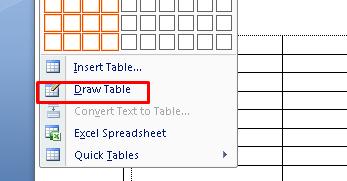 tabel di ms word