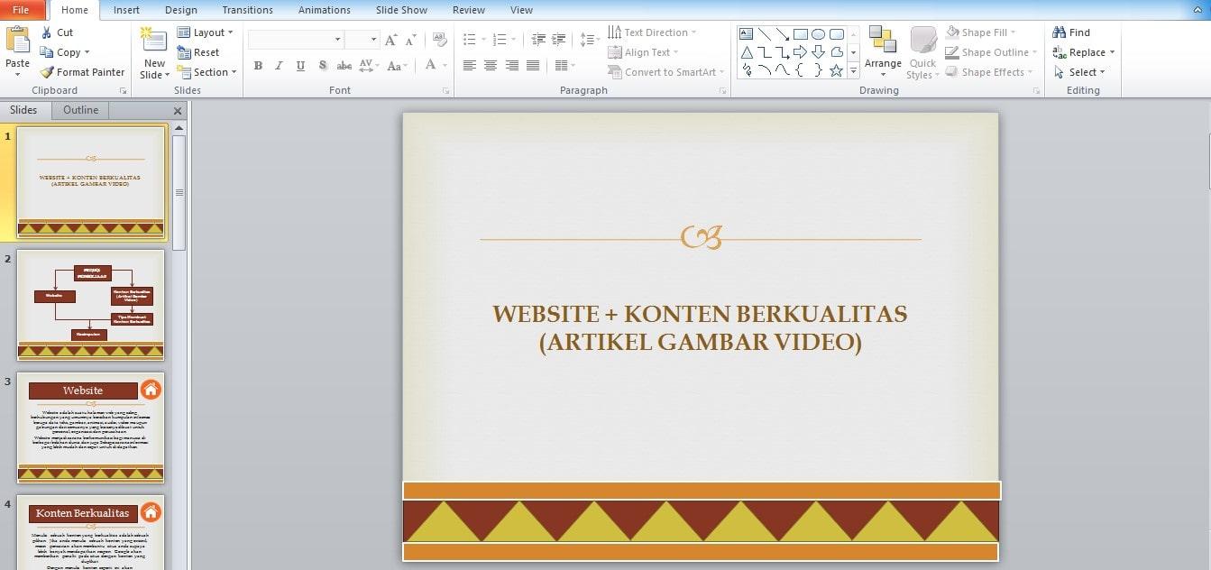 Cara Print PowerPoint Satu Lembar