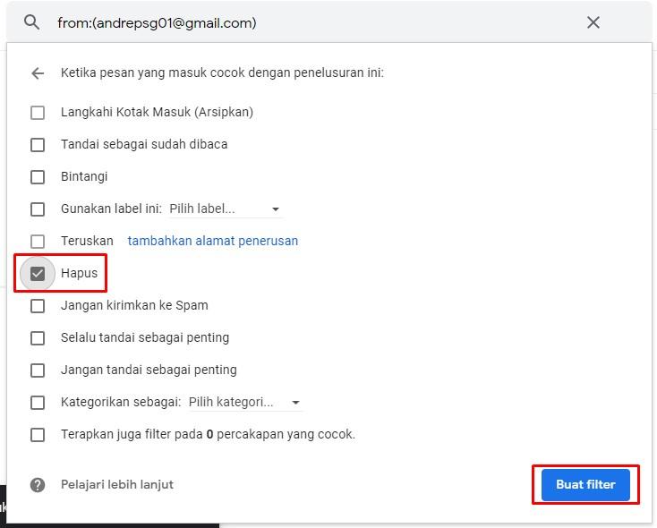 Proses Memblokir di Gmail