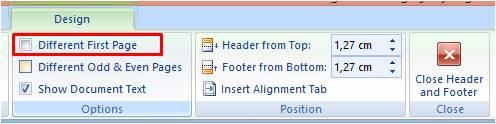 Proses Menyembunyikan Header atau Footer di Word