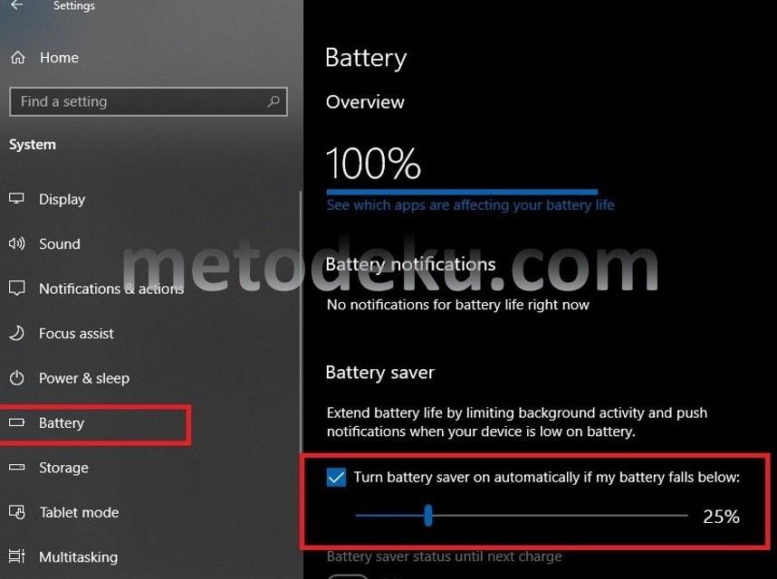 Menghemat Baterai Laptop di Windows 10