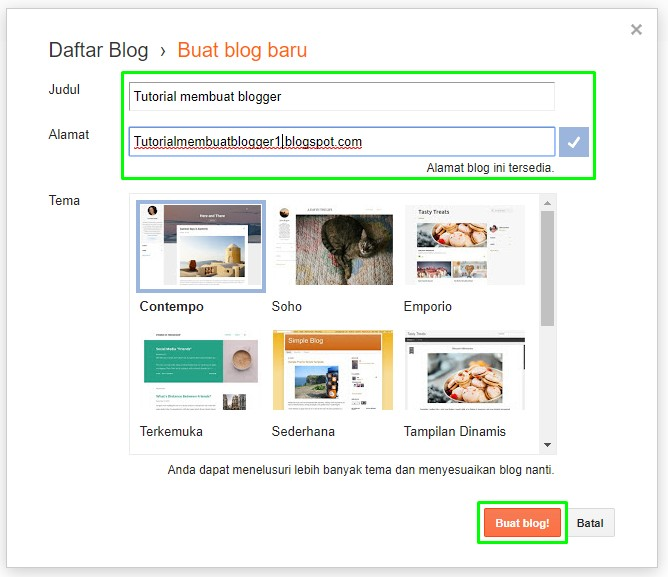 Masukkan Nama Blog