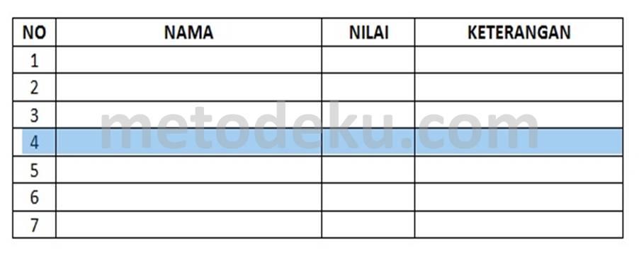 Cara Memisahkan Tabel (Split Table) di Word