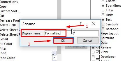 Penamaan Tab Ribbon Di Excel
