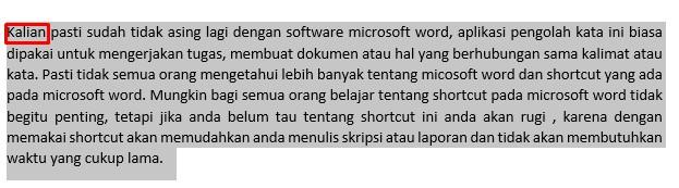 Shortcut Microsoft Word Memudahkan Mengerjakan Tugas