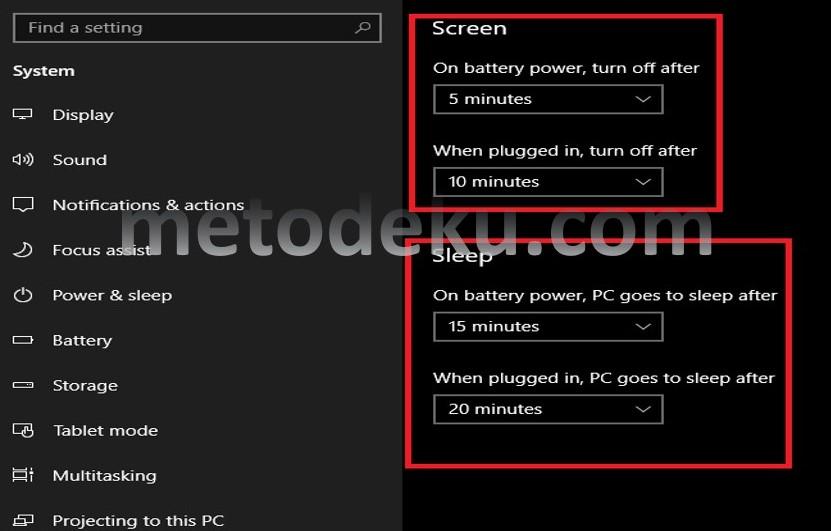 Mengatur Layar Mati Di Laptop Windows 10