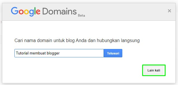 Tampilan dari Membuat Blogger