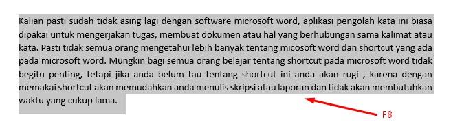 Shortcut Ms Word Memudah