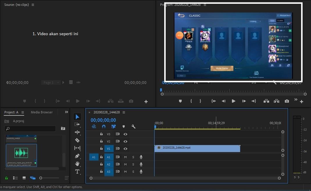 Cara Memberikan Audio di Premier Pro