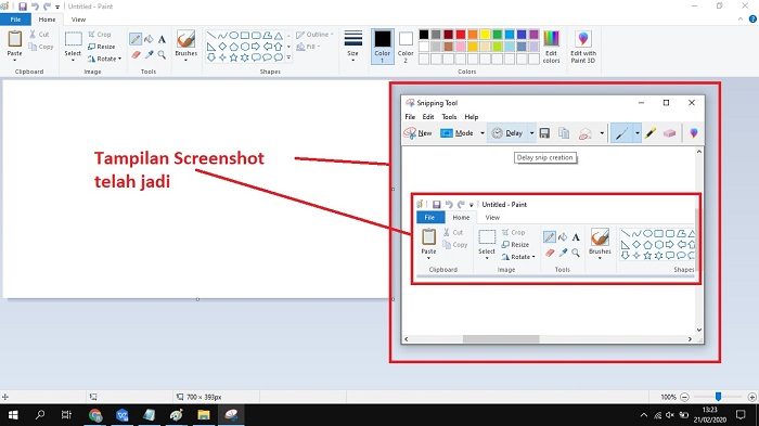 Cara snipping tool di windows 10