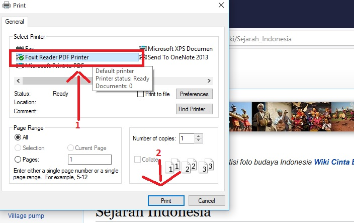 Print Halaman Website Dengan Firefox