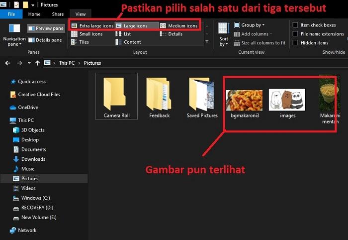Thumbnail Foto Windows 10
