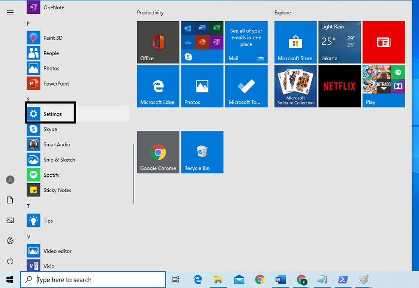 Tips Membuka Setting pada Windows 10