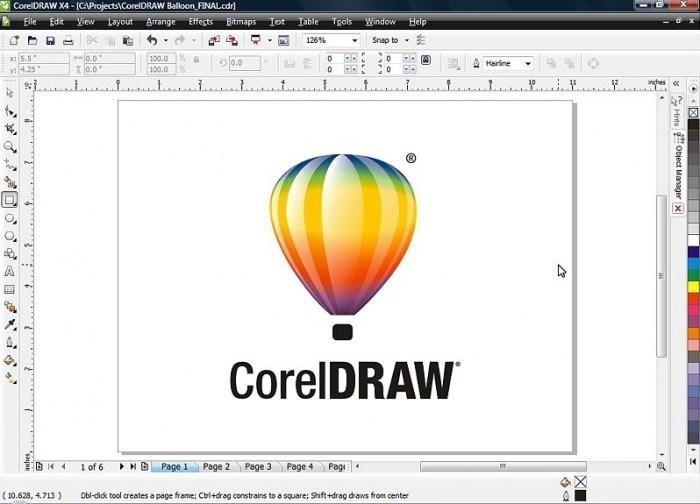 coreldraw perangkat lunak