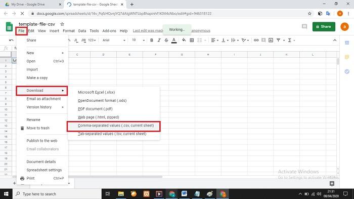 Cara Convert File CSV