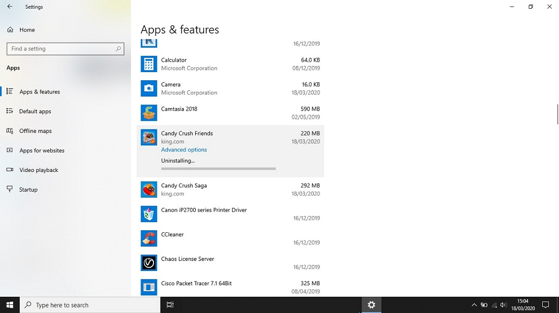 Cara Uninstall Game Bawaan Windows 10