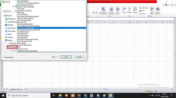 Convert File CSV