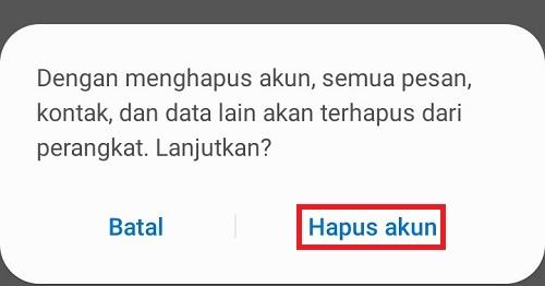 Hapus Akun Google PlayStore