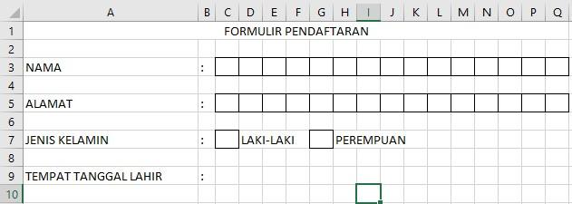 Membuat Pendaftaran Formulir di Excel Dengan Mudah