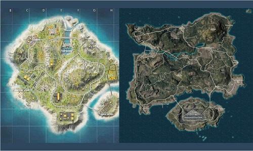 map pubg ff