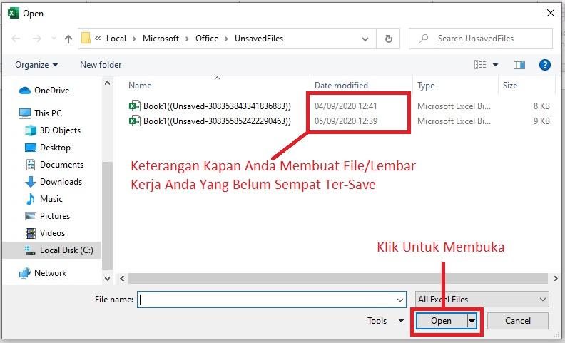 Membuka File Yang Belum Ke Save