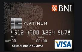 contoh kartu kredit BNI