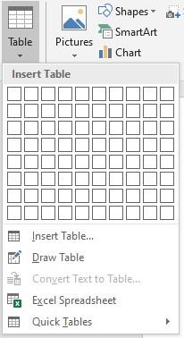 tampilan table