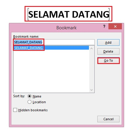 Bookmark Bisa Digunakan