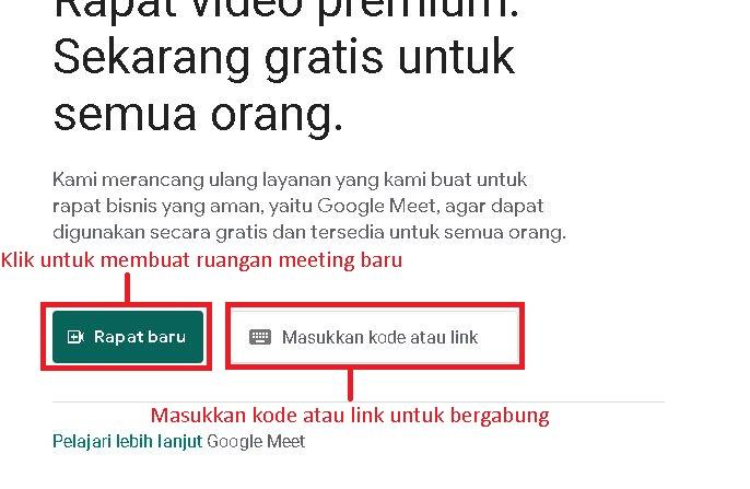 Cara Memakai Google Meet di Laptop