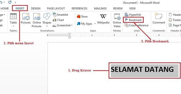 Cara Memunculkan Fitur Bookmark di Microsoft Word