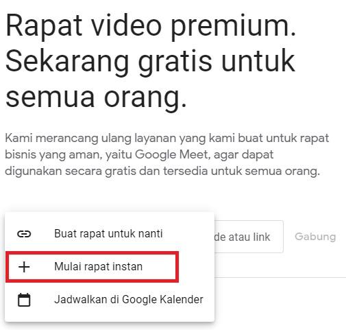 Cara Menggunakan Google Meet dengan Cara Buat Room
