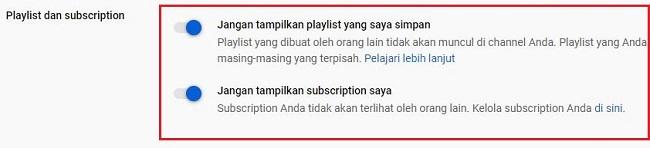 Pengaturan Akun Youtube Publik