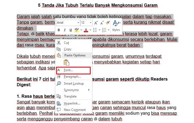 Pilih Font