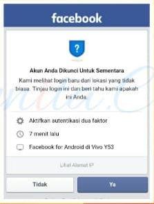 Lamanya Blokir Sementara Di FB