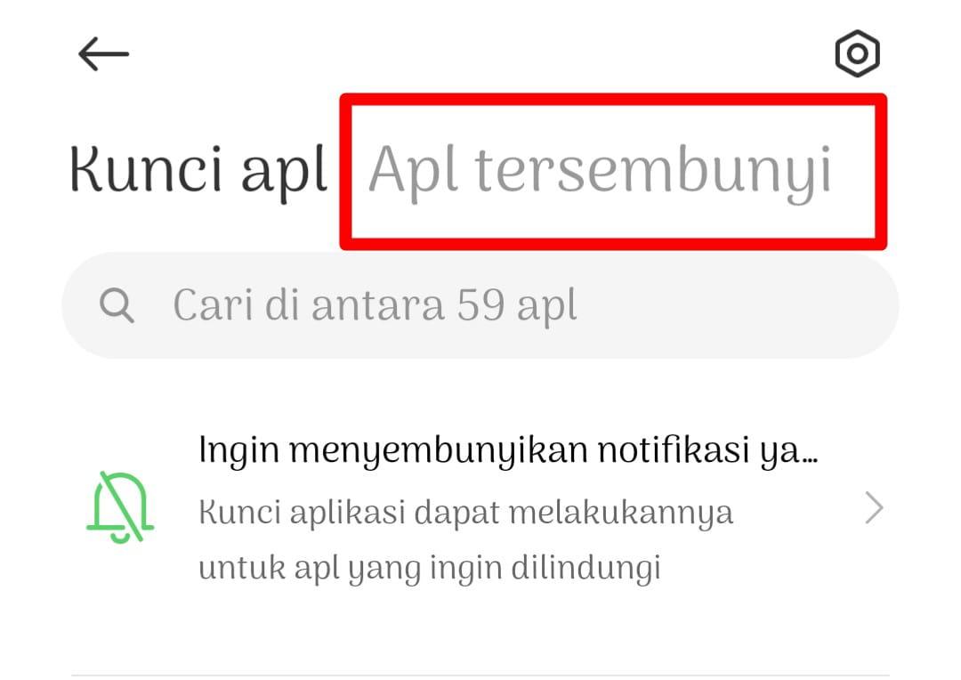 Memperlihatkan Aplikasi Tersembunyi di Xiaomi
