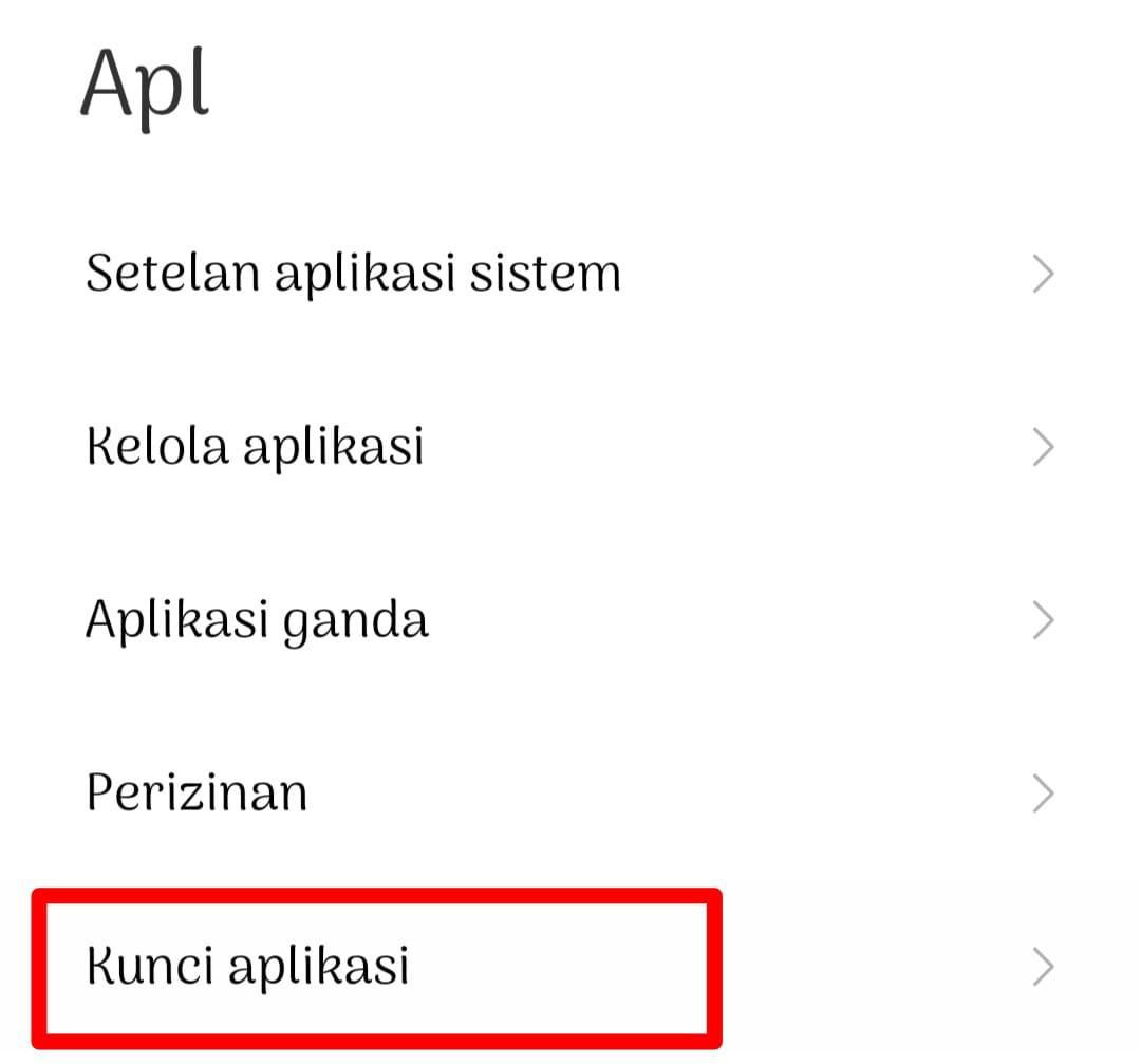 Nah pilih bagian Kunci Aplikasi