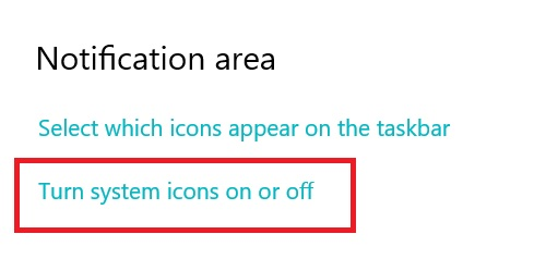 Peran Turn System Icons On or Off