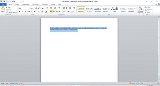 hyperlink ms word